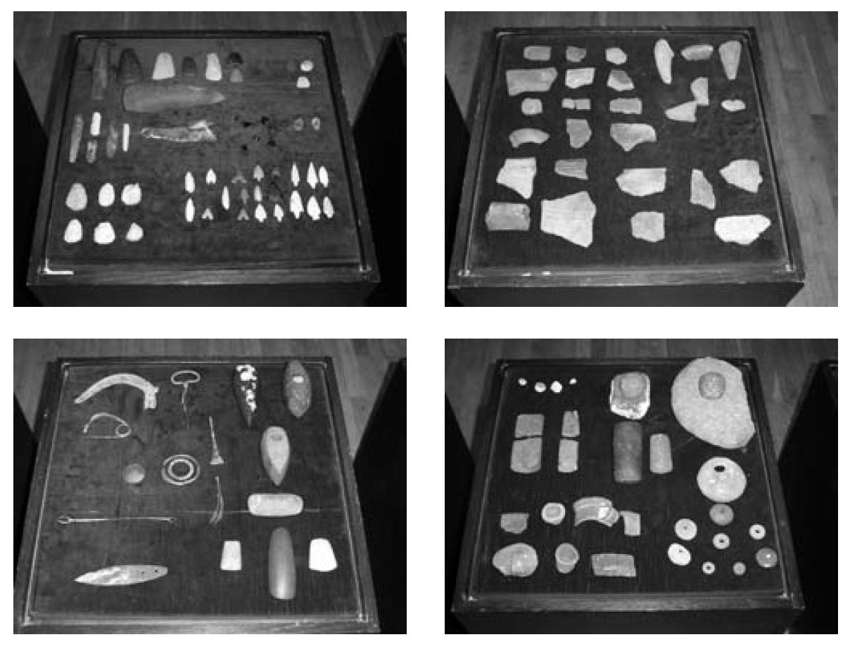 Ulomci s arheoloških lokaliteta u Košutama. Privatno vlasništvo