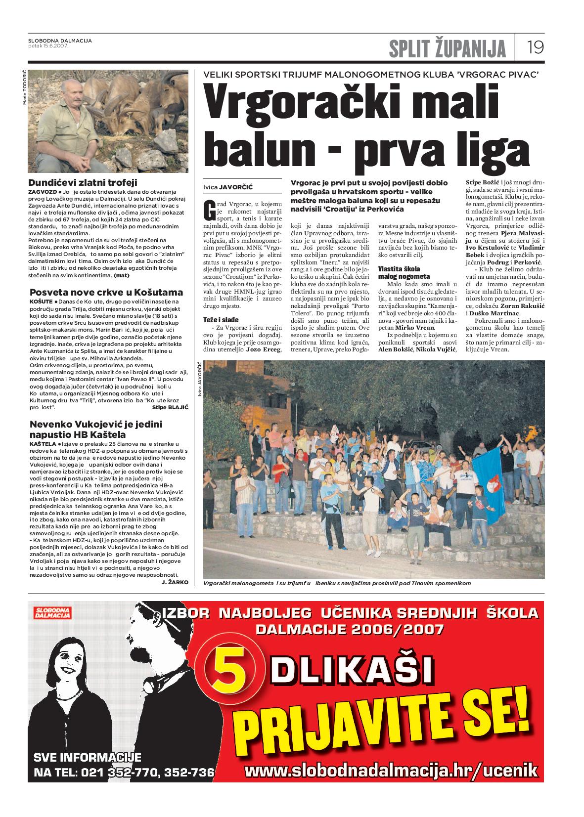 Košute u arhivu Slobodne Dalmacije 15.6.2017. (2)