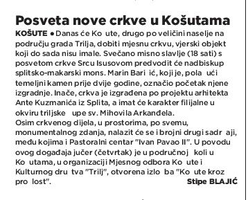 Košute u arhivu Slobodne Dalmacije 15.6.2017. (1)