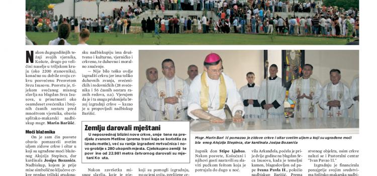 Košute u arhivu Slobodne Dalmacije: 15. i 17. lipnja 2007.