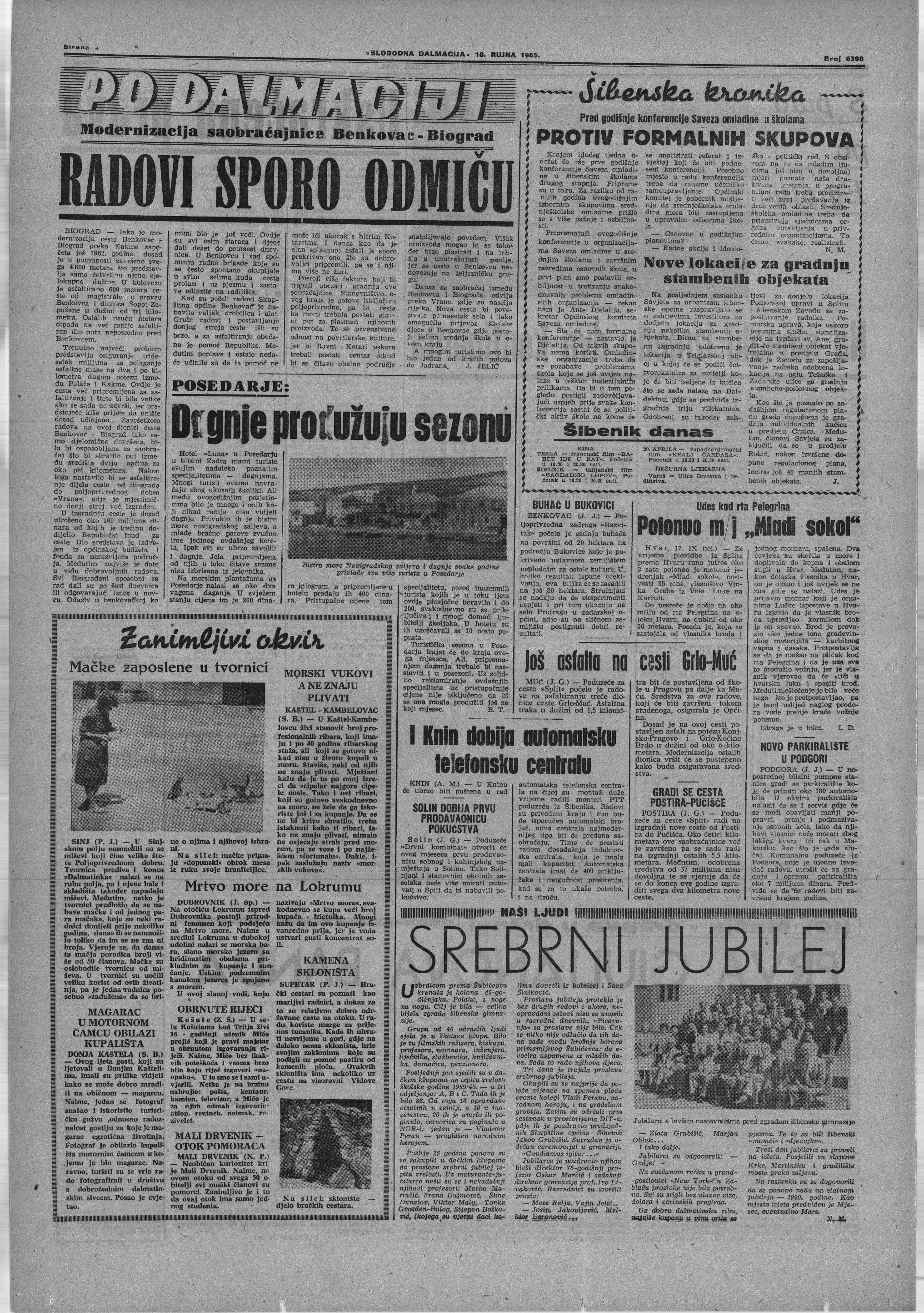 Košute u arhivu Slobodne Dalmacije 18.9.1965
