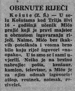 Košute u arhivu Slobodne Dalmacije: 18. rujna 1965.