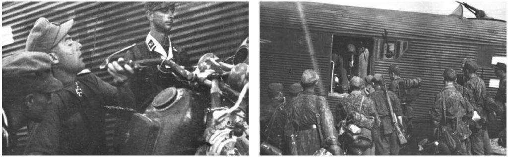 SS-Sturmbannführer Bernhard Dietsche u zračnoj luci u Sinju
