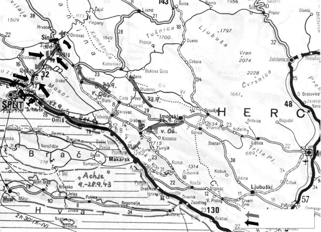 Kretanje njemačke i partizanske vojske 1943.
